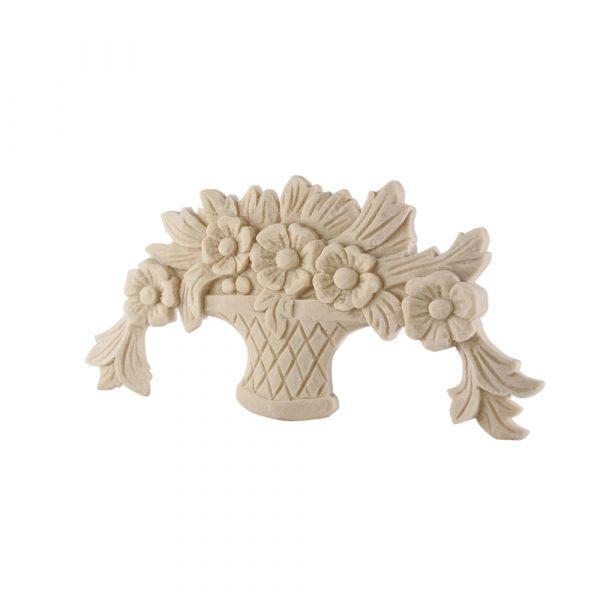 001/D Flower Basket DecWOOD Carved Moulding