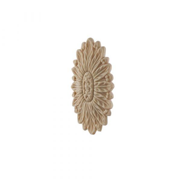 002/D Oval Flower Patrae DecWOOD Carved Patrae Moulding