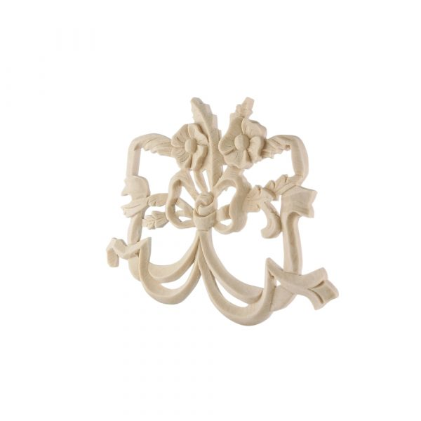 004/D Large Dancing Bow DecWOOD Carved Moulding
