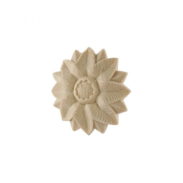 017/D Round Flower Patrae DecWOOD Moulded Rosette Carving