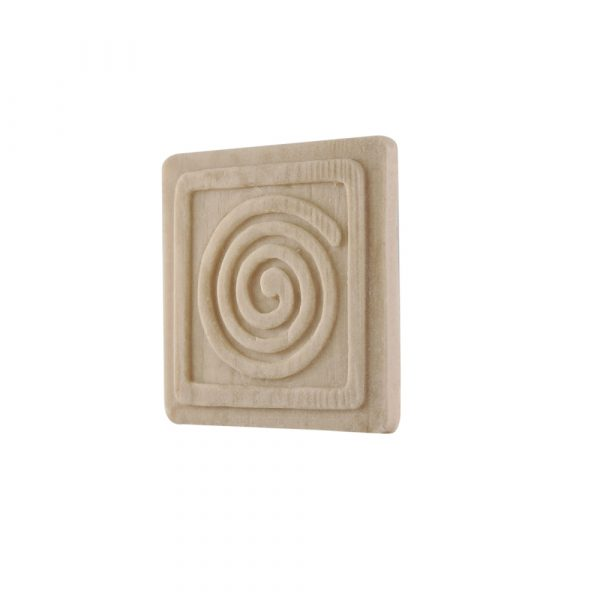 041/D Square Patrae with Swirl DecWOOD Moulded Carving Decora Mouldings
