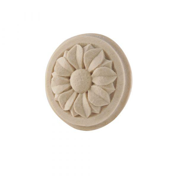 044/D Round Flower Patrae Rosette DecWOOD Carving | Decora Mouldings