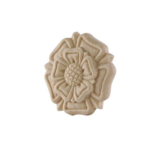 045/D Carved Rose Flower Patrae Rosette DecWOOD Carving | Decora Mouldings