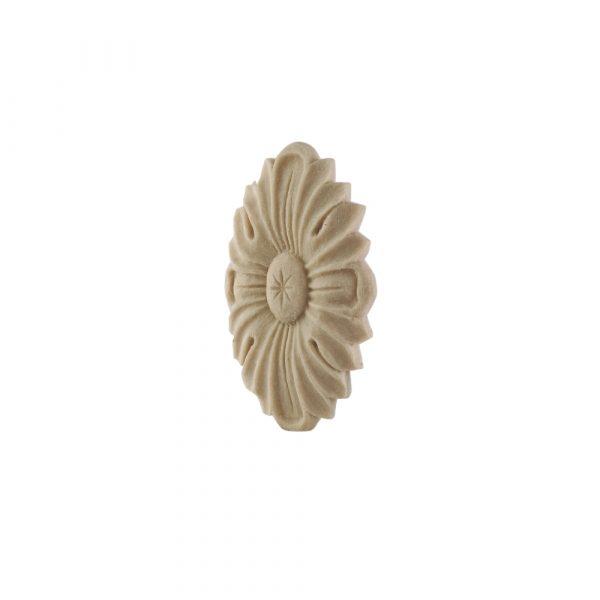 048/D Oval Carved Flower Patrae DecWOOD Rosette   Decora Mouldings