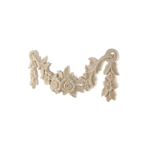 050/D Carved Leaf and Floral Swag DecWOOD Applique Decora Mouldings