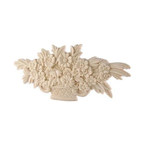 051/D Carved Flower Basket DecWOOD Applique   Decora Mouldings