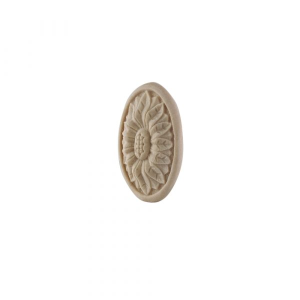 053/D Carved Oval Flower Patrae DecWOOD Rosette   Decora Mouldings