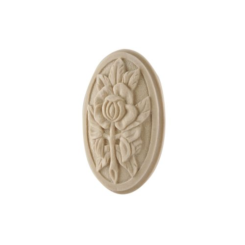 054/D Oval Rose Flower Patrae DecWOOD Rosette | Decora Mouldings