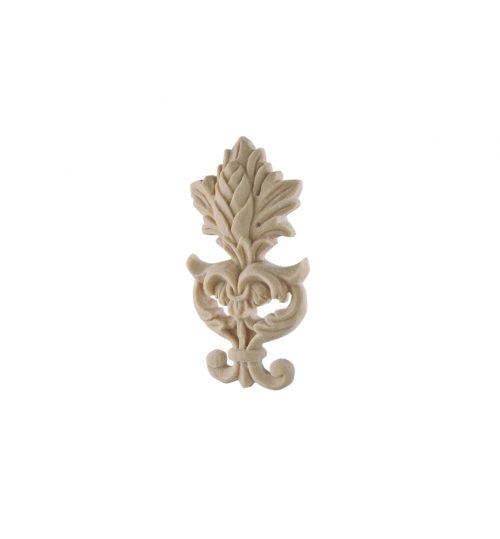 055/D Carved Floral Crest DecWOOD Applique | Decora Mouldings