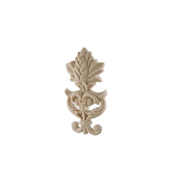 055/D Carved Floral Crest DecWOOD Applique   Decora Mouldings