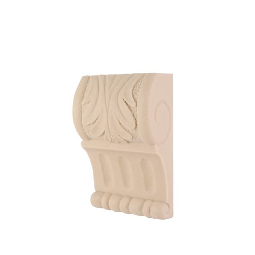 058/D Reeded Leaf Corbel DecWOOD Carved Moulding | Decora Mouldings