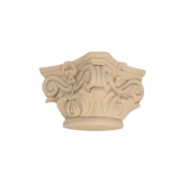 061/D Full Round Ionic Capital DecWOOD Moulded Carving   Decora Mouldings
