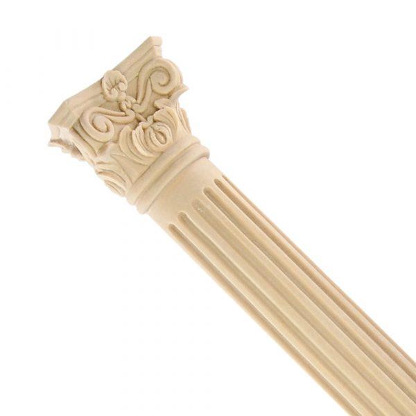 066/D Fluted Corinthian Column DecWOOD Carving | Decora Mouldings