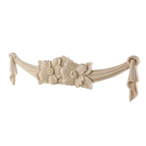 071/D Carved Fabric Swag with Flower DecWOOD | Decora Mouldings