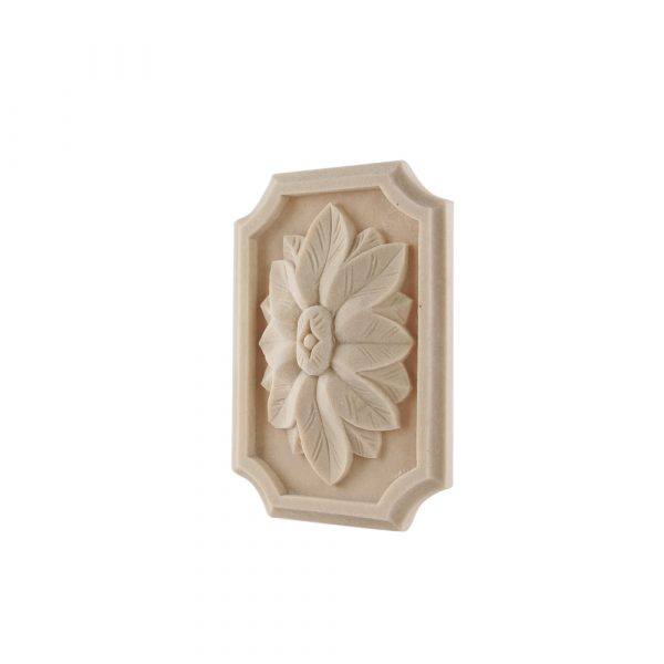 072/D Rectangular Flower Patrae Scalloped DecWOOD Carving | Decora Mouldings