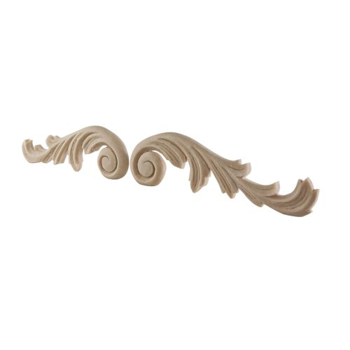 073/D Carved Scrolls (Pair) DecWOOD Applique | Decora Mouldings