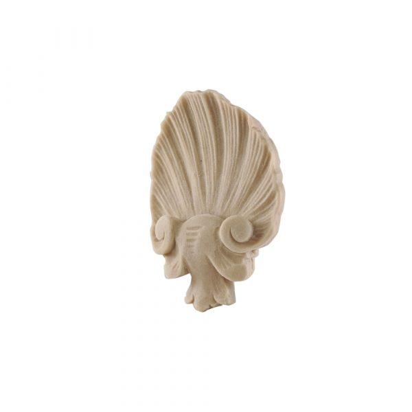 078/D Small Shell Centre DecWOOD Carved Applique | Decora Mouldings