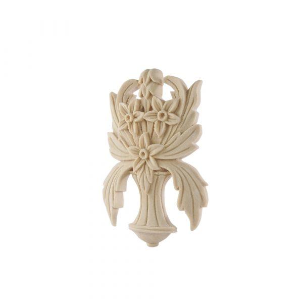 096/D Flower & Leaf Centre DecWOOD Carved Applique   Decora Mouldings