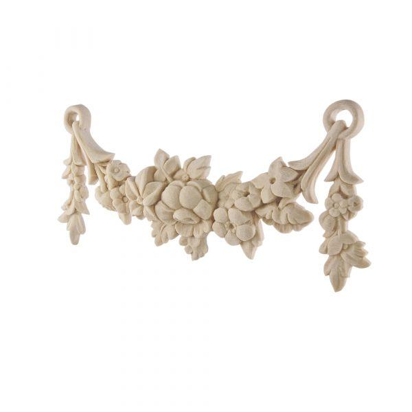 098/D Carved Floral Swag DecWOOD Applique | Decora Mouldings