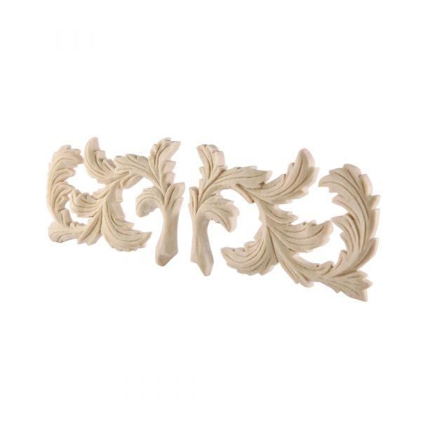 101/D Carved Leaf Scrolls (Pair) DecWOOD Appliques | Decora Mouldings