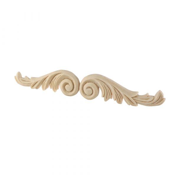 102/D Carved Scrolls (Pair) DecWOOD Acanthus Appliques   Decora Mouldings