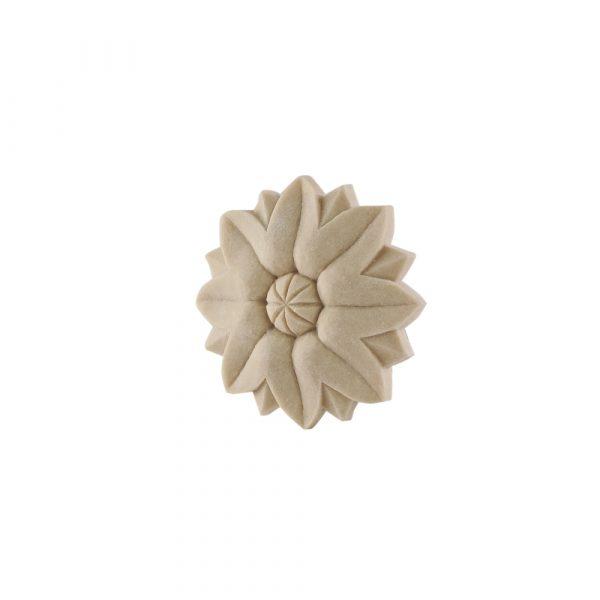 106/D Flower Patrae Rosette Carved DecWOOD Applique | Decora Mouldings
