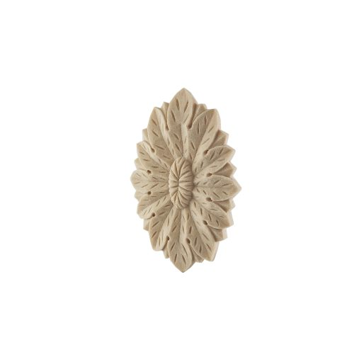 107/D Oval Flower Patrae DecWOOD Carved Rosette | Decora Mouldings