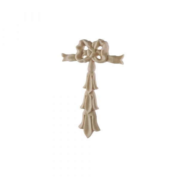 123/D Bow & Drop Carving DecWOOD Applique | Decora Mouldings
