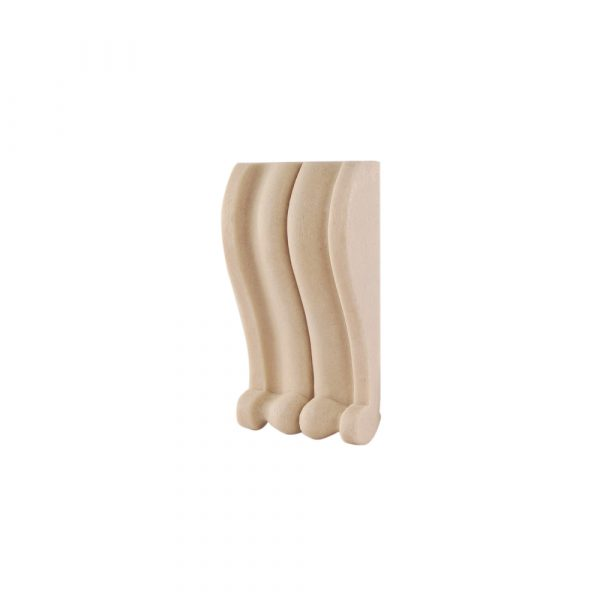 129/D Small Reeded Corbel DecWOOD Decora Mouldings