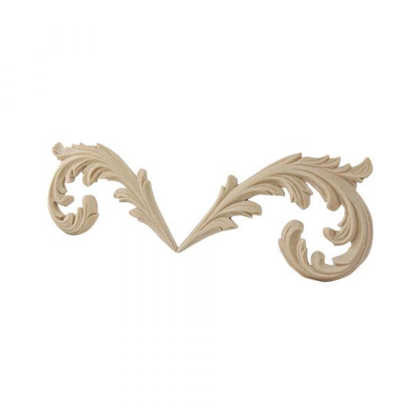 136/D End Leaves for Frieze (Pair) DecWOOD Carving | Decora Mouldings