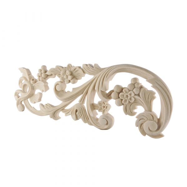 137/D Ornate Fretted Floral Scroll (Pair) DecWOOD Applique | Decora Mouldings