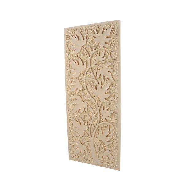 147/D Rectangular Carved Leaf Panel DecWOOD | Decora Mouldings