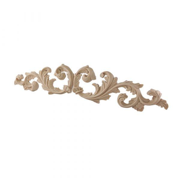 148/D Large Carved Leaf Scrolls (Pair) DecWOOD Applique   Decora Mouldings