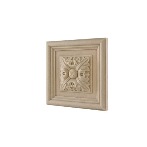 163/D Square Patrae Rosette DecWOOD Decora Mouldings