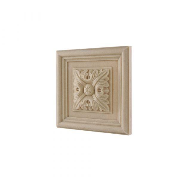 163/D Square Patrae Rosette DecWOOD Decora Mouldings