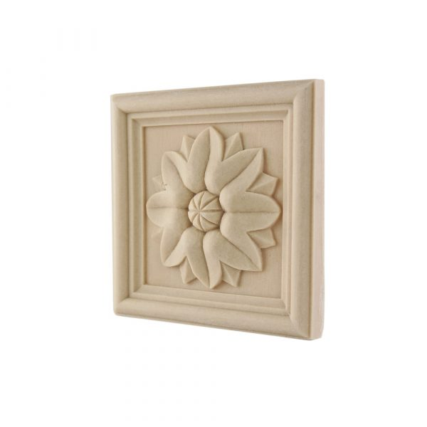 165/D Square Framed Patrae with sunflower DecWOOD Rosette | Decora Mouldings