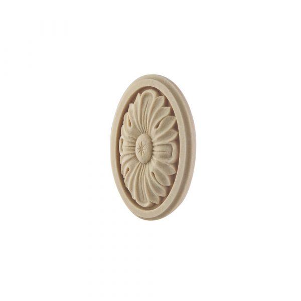 166/D Oval Framed Flower Patrae DecWOOD Rosette | Decora Mouldings