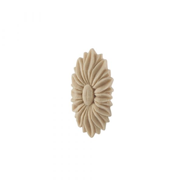 170/D Carved Oval Flower Patrae DecWOOD Rosette   Decora Mouldings
