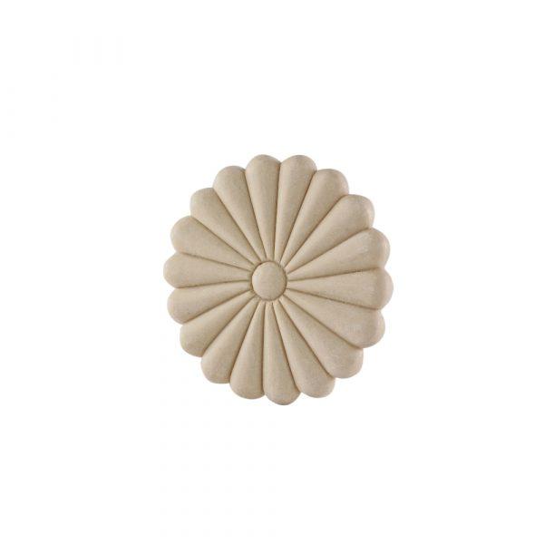 174/D Round Daisy Patrae DecWOOD Flower Rosette | Decora Mouldings