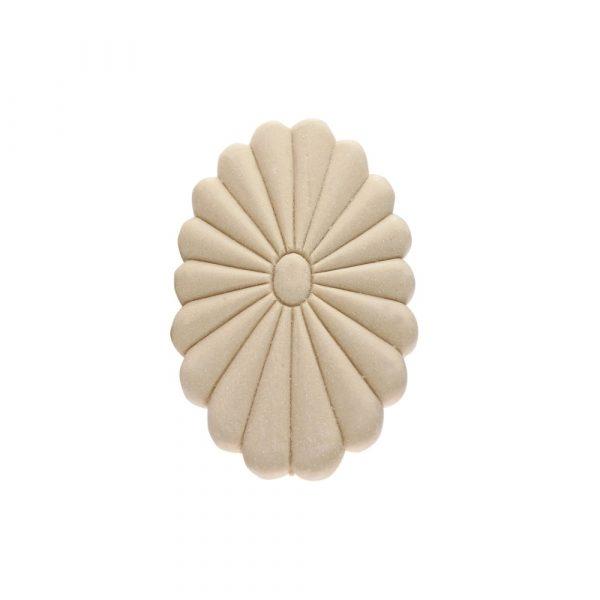 175/D Oval Daisy Flower Patrae DecWOOD Rosette | Decora Mouldings