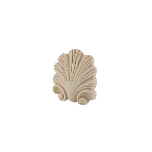 180/D Small Carved Shell DecWOOD Applique | Decora Mouldings