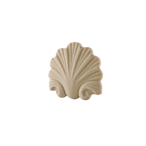181/D Small Carved Shell DecWOOD Applique | Decora Mouldings