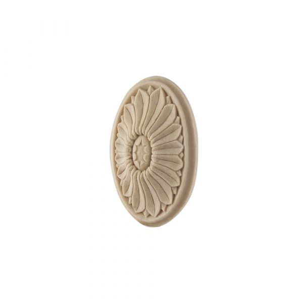 185/D Oval Framed Flower Patrae DecWOOD Rosette | Decora Mouldings