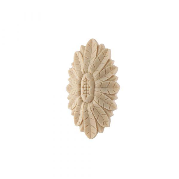 202/D Oval Flower Patrae Carved DecWOOD Rosette | Decora Mouldings