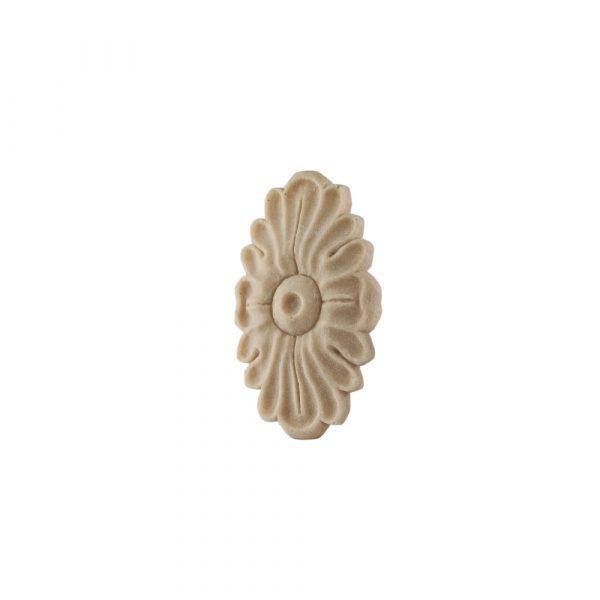 203/D Oval Flower Patrae Carved DecWOOD Rosette | Decora Mouldings