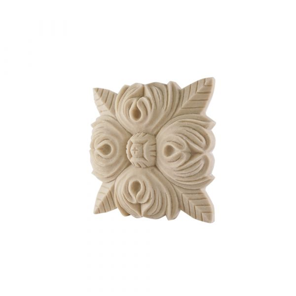 205/D Square Rose Patrae Carved DecWOOD Rosette   Decora Mouldings