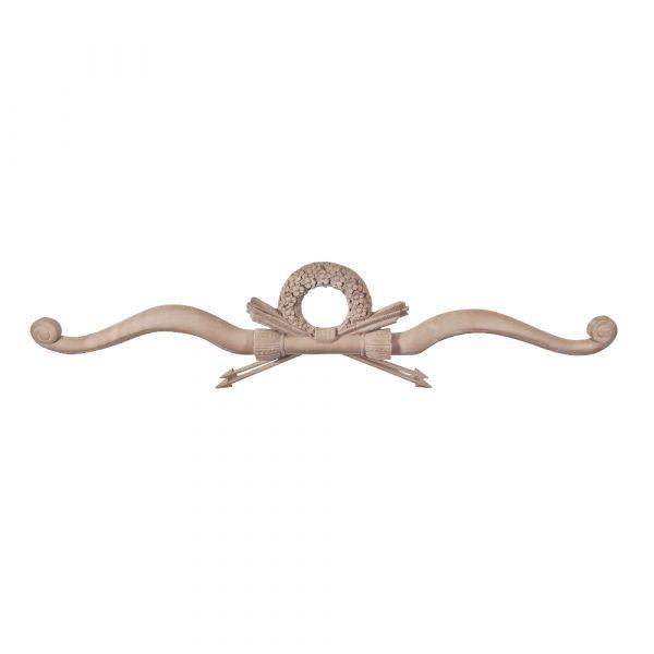 206/D Large Carved Bow & Wreath DecWOOD Centre Applique | Decora Mouldings