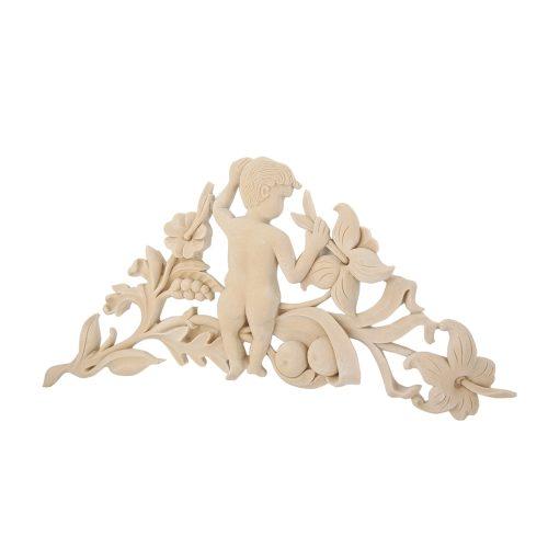 207/D Carved Fretted Cherub Corner DecWOOD Decora Mouldings