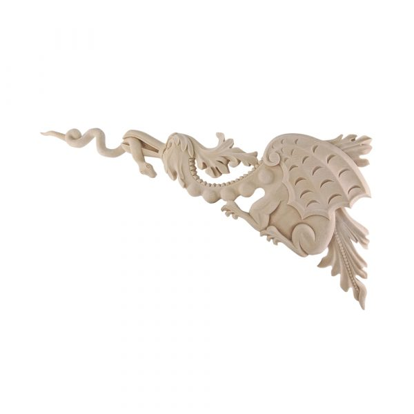 209/D Carved Dragon Corners (Pair) DecWOOD Decora Mouldings