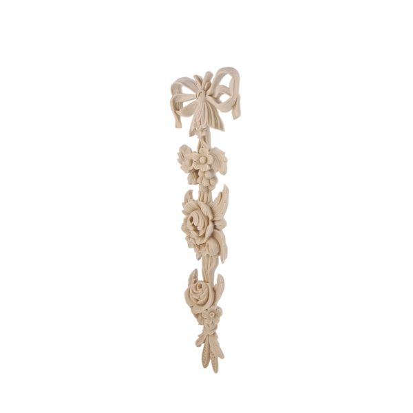213/D Large Bow Drop with carved flower detail DecWOOD Decora Mouldings